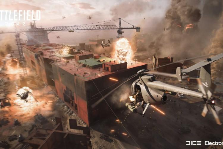 Battlefield 2042 é uma das franquias mais famosas da AE (Foto: AE/ Battlefield 2042)