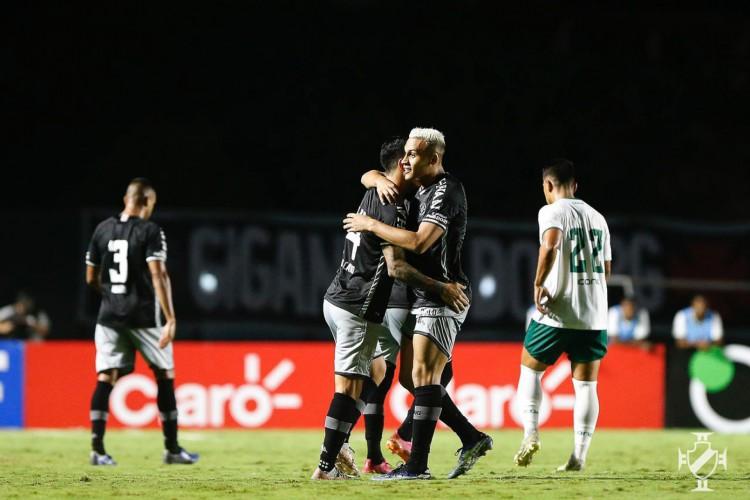 Jogadores do Vasco comemoram gol de Cano no jogo Vasco da Gama x Boavista, em São Januário, pela Copa do Brasil (Foto: Rafael Ribeiro/Vasco)