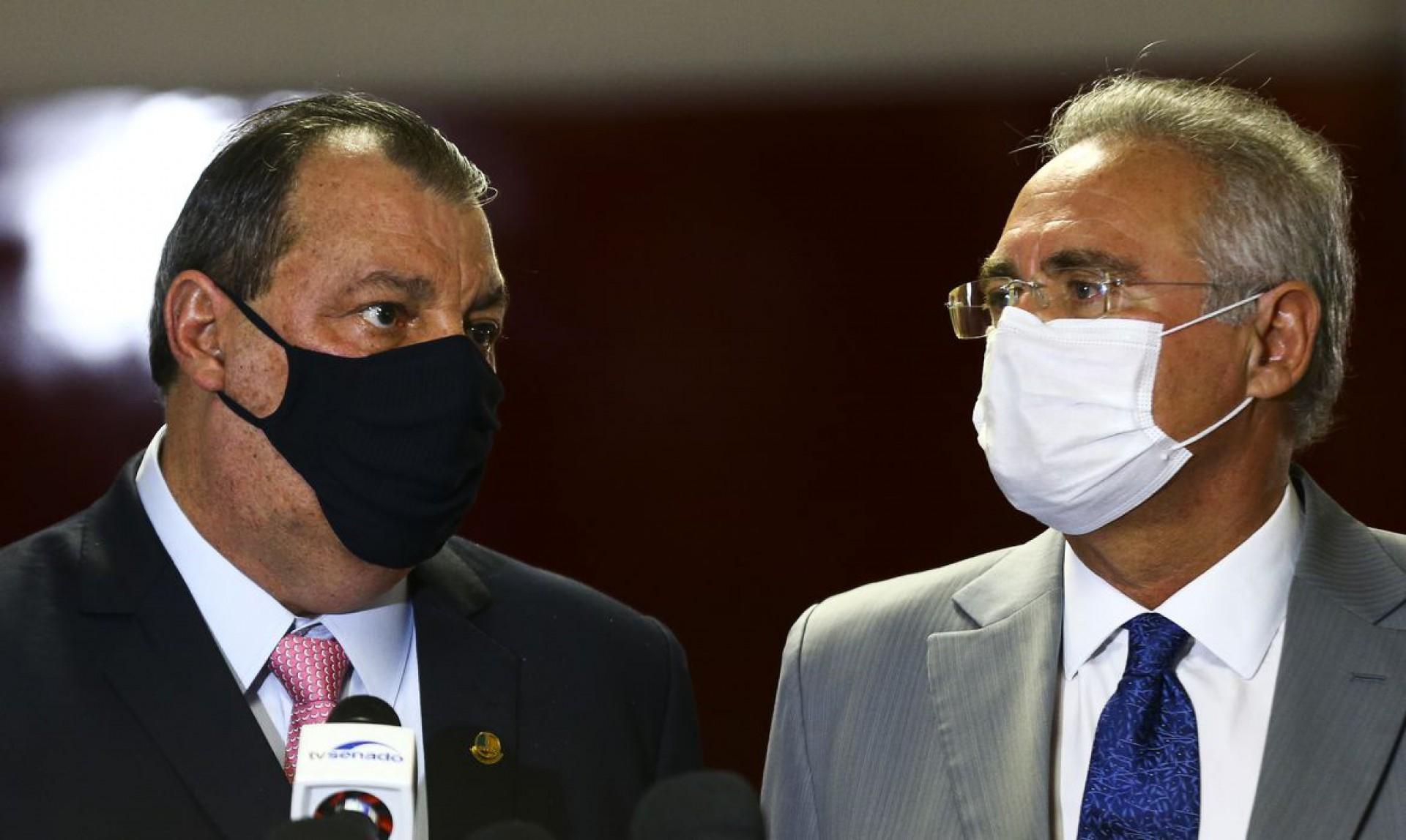 Senadores  Omar Aziz e Renan Calheiros, presidente e relator da CPI da Pandemia