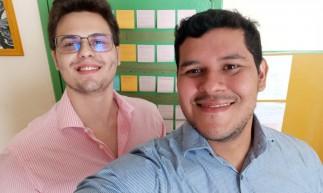 Carlos e Daniel (azul) da Protômega