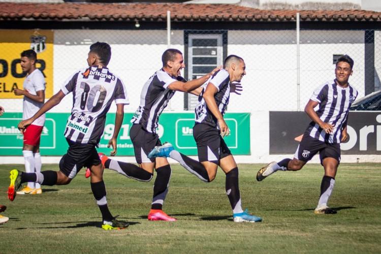 O Ceará estreou com vitória por 3 a 0 sobre o Red Bull Bragantino pelo Brasileirão de Aspirantes 2021 (Foto: Fernando Ferreira/Ceará SC)