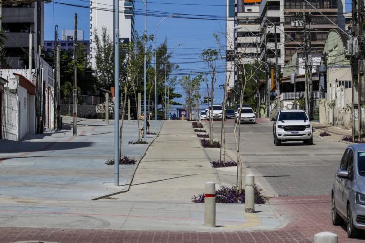 Obras na av. Desembargador Moreira já atingiram 96% de execução (Foto: Thais Mesquita)