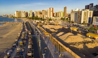 Fortaleza, Ce, BR - 011.06.21 Obras ao longo da Av. Beira Mar (Fco Fontenele / O POVO)