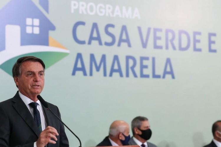 Cerimônia de  lançamento do Programa Casa Verde e Amarela (Foto: Marcos Corrêa/PR)