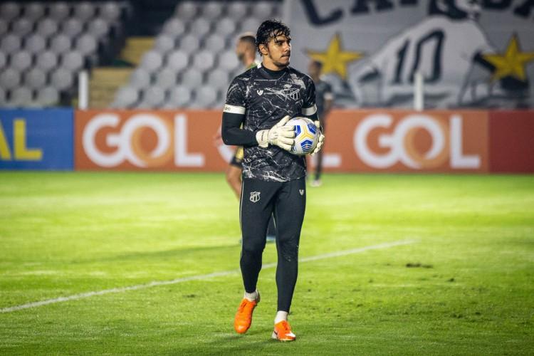 Goleiro Richard é um dos responsáveis pelo bom desempenho defensivo (Foto: Fausto Filho / Ceará SC)