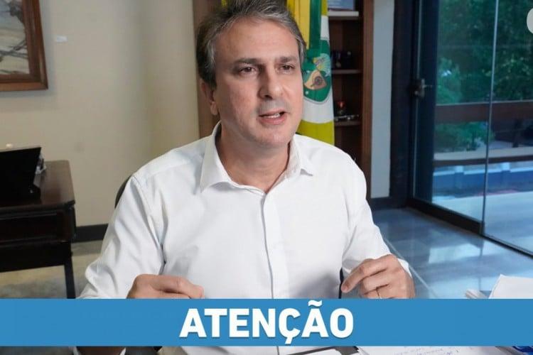 Governador Camilo Santana (Foto: REPRODUÇÃO/FACEBOOK/CAMILO SANTANA)