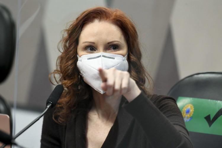 CPI da Covid ouve a microbiologista e pesquisadora da Universidade de São Paulo (USP), Natalia Pasternak (Foto: Jefferson Rudy/Agência Senado)