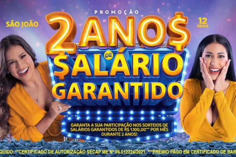 O resultado do quarto sorteio da Tele Sena de São João 2021 foi realizado na noite de hoje, domingo, 11 de julho (11/07), às 20 horas, pelo SBT. Entre os prêmios estão 2 anos de salário (Foto: Divulgação/SBT)