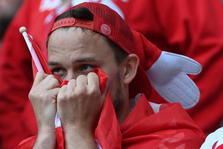 Após mal súbito de Christian Eriksen, a Dinamarca encara hoje Bélgica, em um dos jogos de hoje da Eurocopa 2021  (Foto: Jonathan NACKSTRAND / various sources / AFP)
