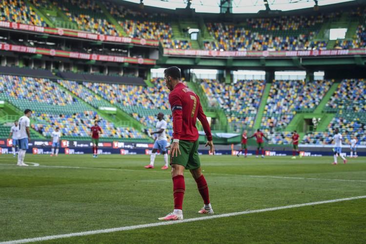 Entre os jogos de hoje, terça, 15 de junho, Portugal enfrenta Hungria, pela Eurocopa (Foto: PATRICIA DE MELO MOREIRA / AFP)