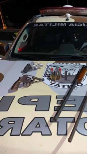 Homem é preso e quatro armas são apreendidas em Alto Santo (Foto: Foto: Polícia Militar)
