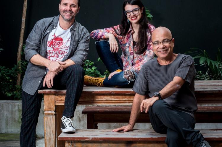 Cláudio Manoel, Júlia Besserman e Micael Langer são os direitores e roteiristas de 'Meu Amigo Bussunda'
