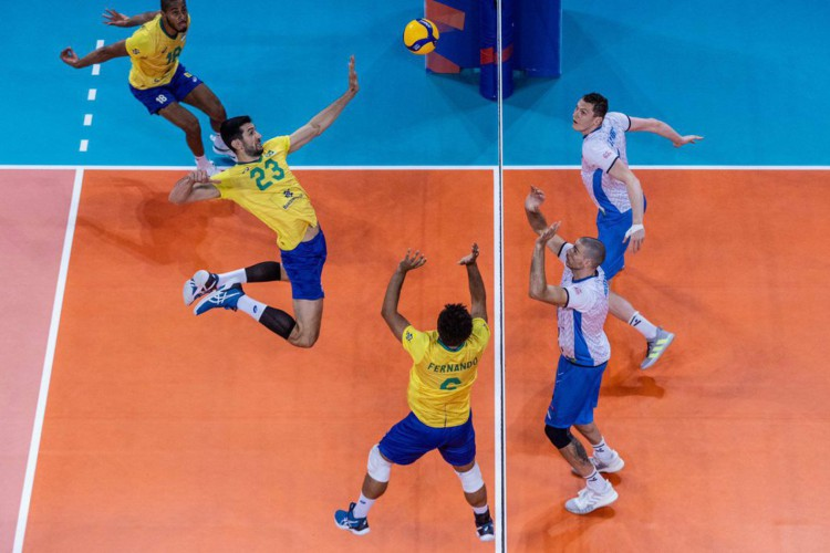 Brasil derrota Eslovênia na Liga Mundial de vôlei (Foto: )