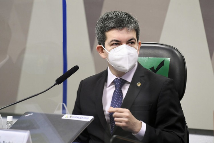 Randolfe Rodrigues, vice-presidente da CPI da Covid no Senado. (Foto: Jefferson Rudy/Agência Senado)