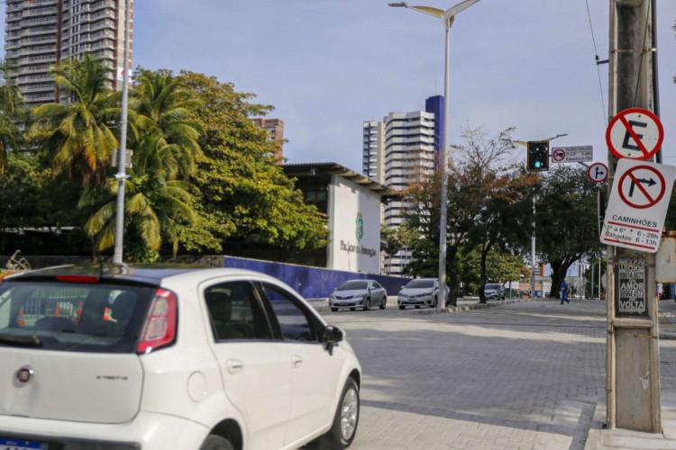 O espaço foi interditado  para  implantação de piso intertravado e outros serviços de requalificação na região (Foto: Divulgação/Superintendência de Obras Públicas (SOP))