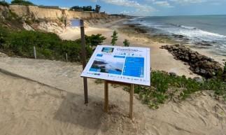 A primeira estação está localizada na Praia do Pacheco