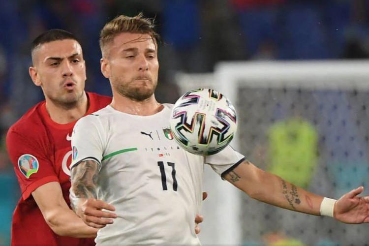 Itália encara o País de Gales, em um dos jogos da Eurocopa 2021 de hoje (Foto: Alberto Lingria/ Pool/ AFP)