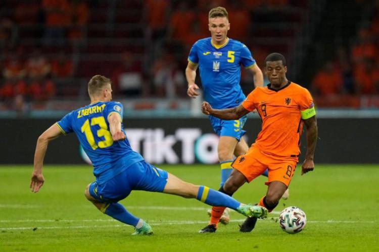 Após perder para Holanda, a Ucrânia joga contra a Macedônia do Norte hoje, pela Eurocopa; veja onde assistir ao vivo à transmissão e horário do jogo (Foto: Peter Dejong / POOL / AFP)