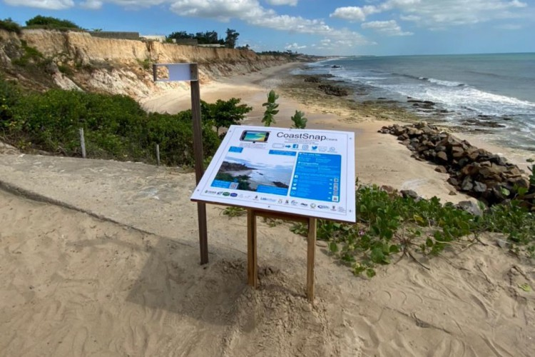 A primeira estação está localizada na Praia do Pacheco  (Foto: CoastSnap Ceará/Reprodução)