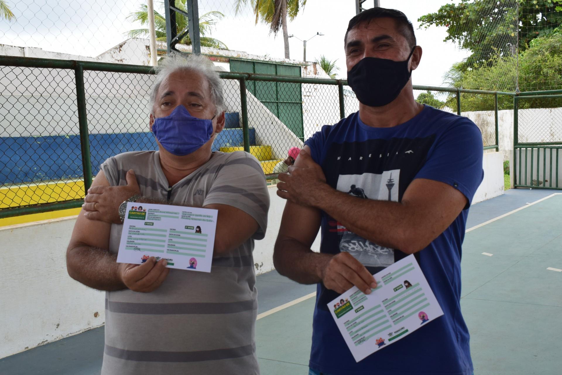 448 pessoas foram vacinadas em Paracuru nesta quarta-feira, 16, na faixa etária entre 50 e 59 anos (Foto: Divulgação/Prefeitura de Paracuru)