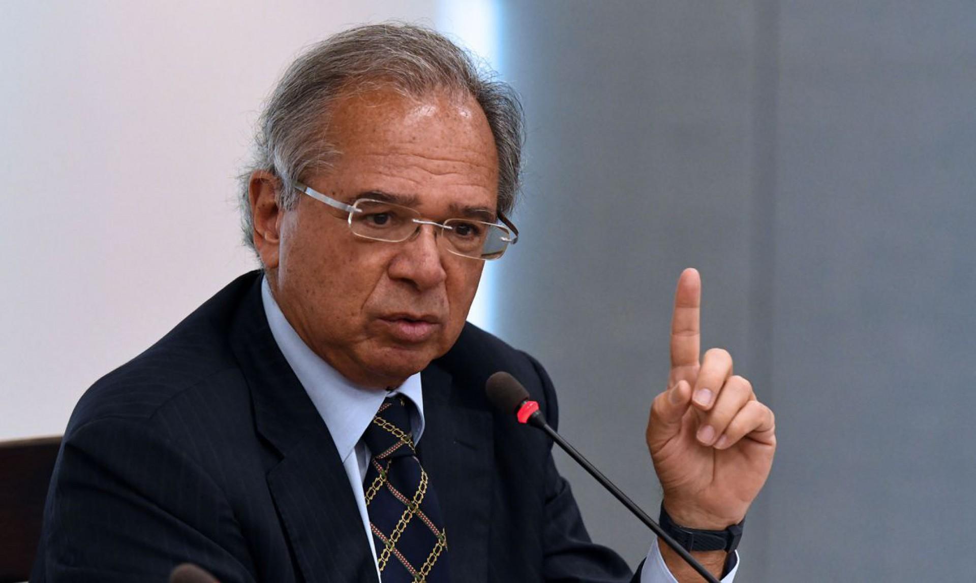 O ministro da Economia, Paulo Guedes, defende que a tributação de 20% sobre lucros e resultados abre o caminho para desoneração de assalariados (Foto: EDU ANDRADE/Ascom/ME)