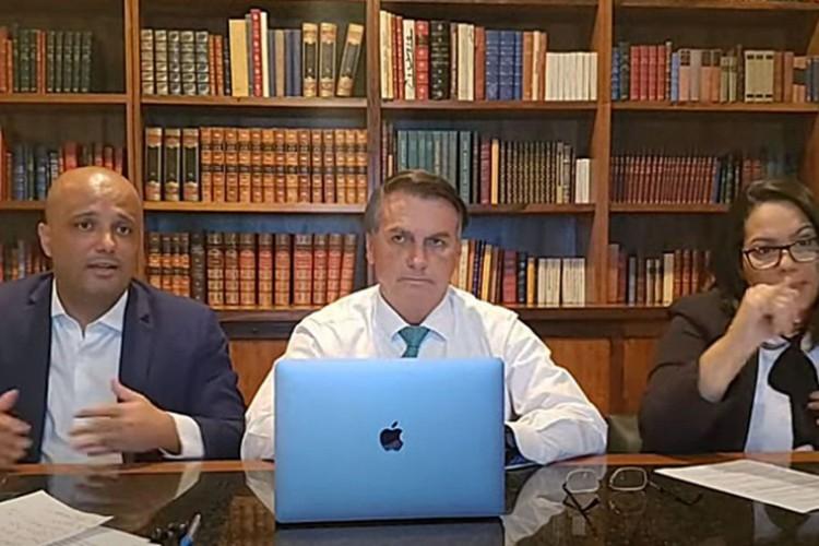 Pronunciamento à Nação - Live PR Jair Bolsonaro (17/06/2021) (Foto: Reprodução YouTube/Jair Bolsonaro)