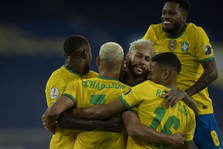 Brasil goleia seleção peruana e segue 100% na Copa América (Foto: Lucas Figueiredo/CBF)