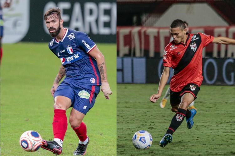 Matheus Vargas e João Paulo atuaram em ambas as equipes (Foto: Montagem das fotos de Júlio Caesar/O POVO e Atlético-GO)