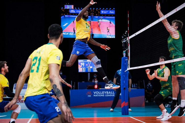 Liga das Nações: seleção brasileira de vôlei bate fácil Austrália    (Foto: )