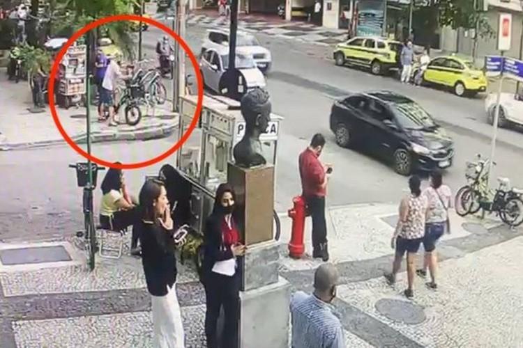 As imagens de segurança ajudaram a inteligência da delegacia a encontrarem o suspeito  (Foto: Reprodução/O Globo e G1)