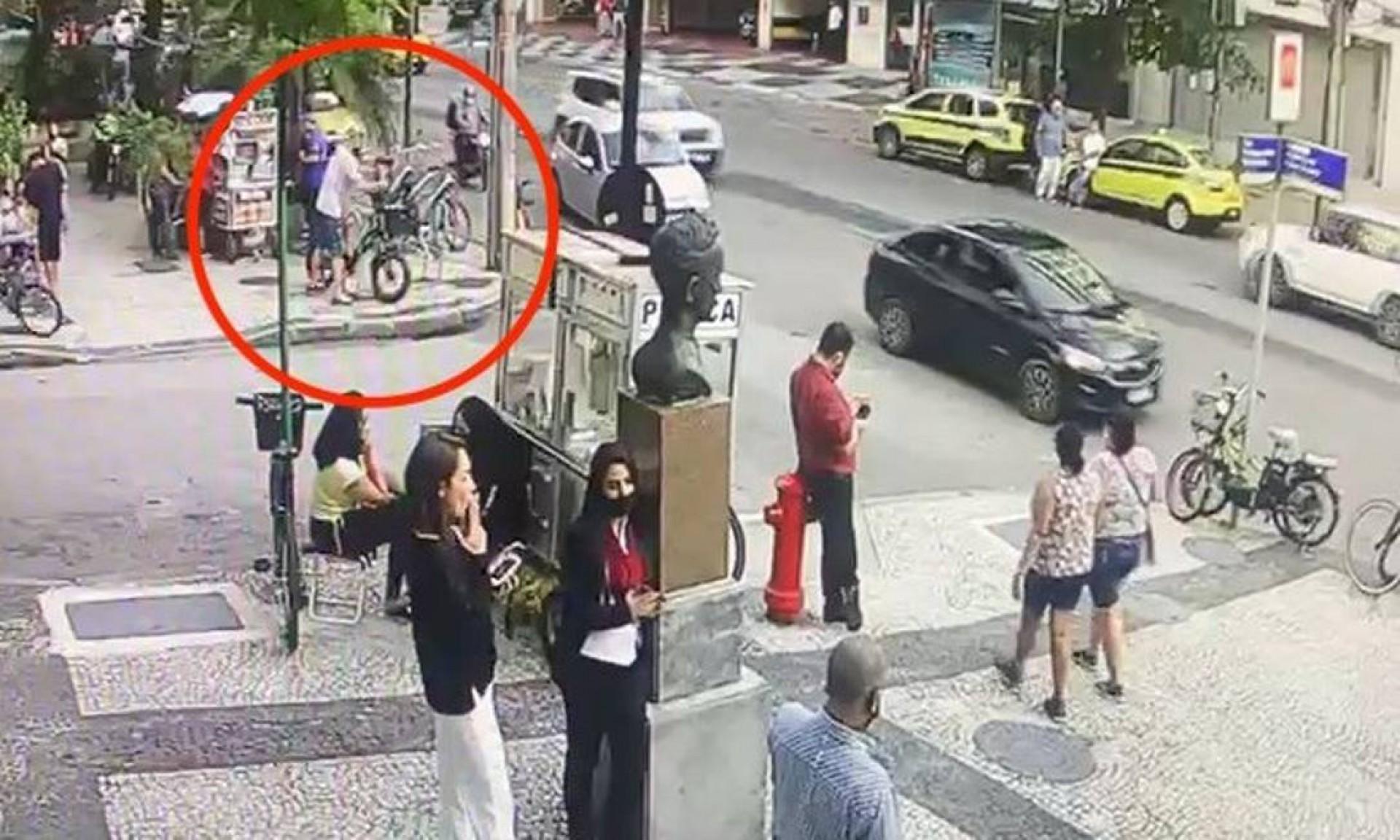 As imagens de segurança ajudaram a inteligência da delegacia a encontrarem o suspeito