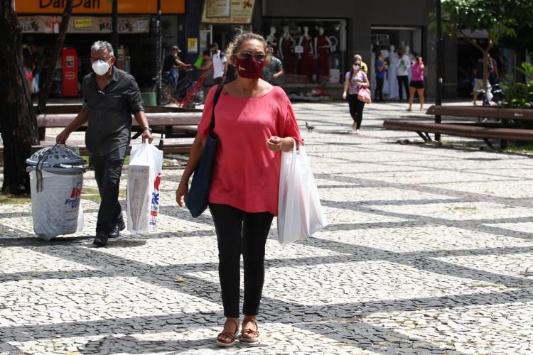 Com o resultado de maio, o comércio varejista cearense recuperou as perdas da segunda onda da pandemia e apresenta crescimento no acumulado de 2021. (Foto: FABIO LIMA)