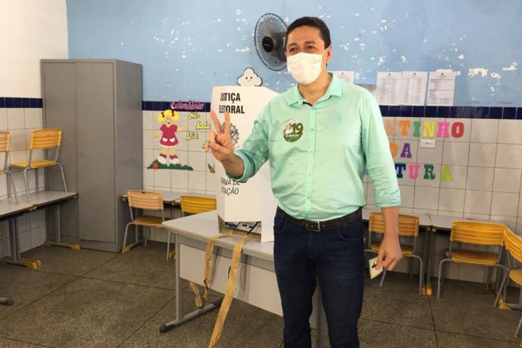 Glêdson Bezerra (Podemos), prefeito de Juazeiro do Norte (Foto: Luciano Cesário)