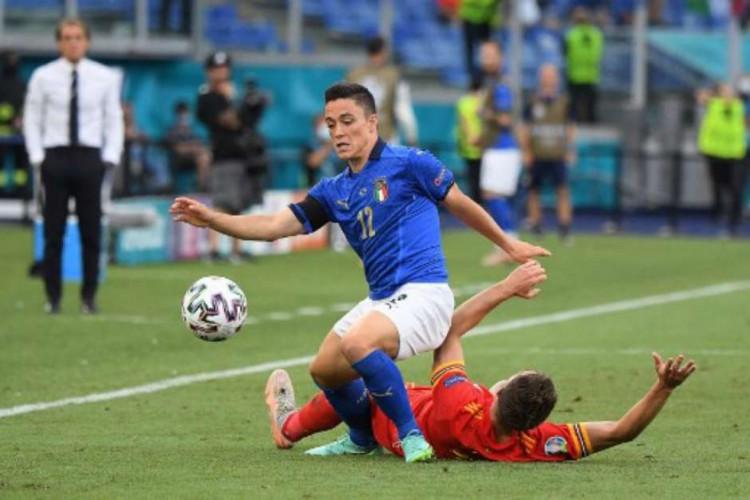 A Itália venceu o País de Gales por 2 a 0 e avançou como líder do grupo A da Eurocopa (Foto: Alberto Lingria/AFP)
