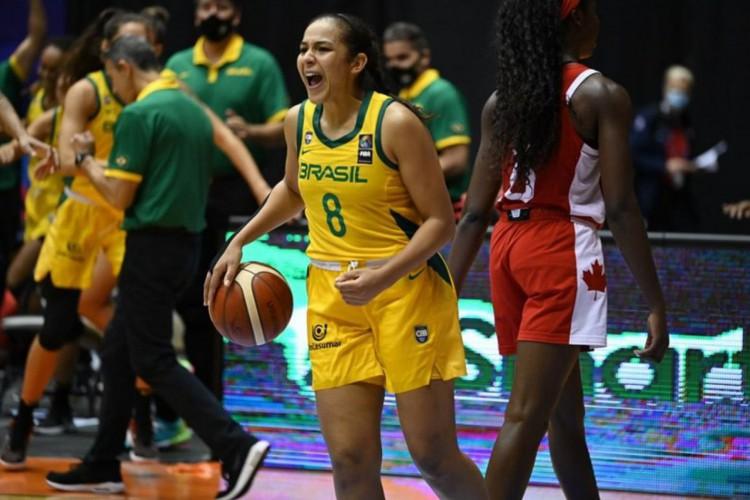 Basquete: Brasil supera Canadá e leva bronze na Copa América feminina (Foto: )