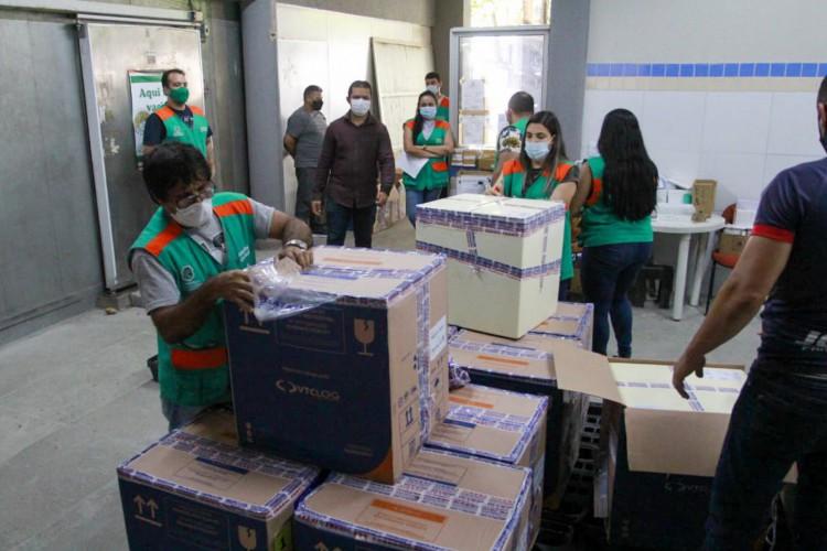 Último lote de vacinas recebido pelo Estado chegou na sexta-feira, 18  (Foto: Reprodução/Twitter)
