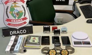 Na casa do chefe foi preso também outro suspeito de envolvimento no tráfico de drogas