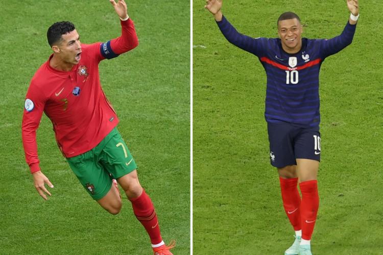 Portugal de Cristiano Ronaldo enfrenta hoje a França de Mbappé; veja onde assistir ao vivo à transmissão e qual horário do jogo (Foto: Matthias Hangst, Alexander HASSENSTEIN / AFP)