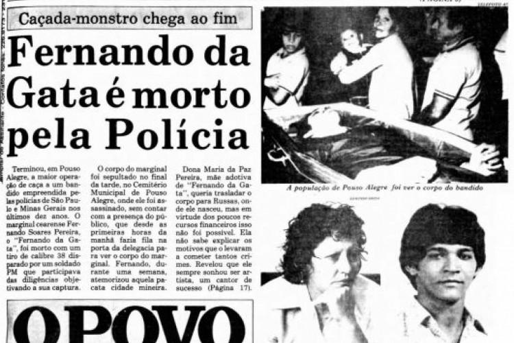 A morte de Fernando foi manchete do O POVO no dia 5 de setembro de 1982 (Foto: Reprodução/O POVO.Doc)