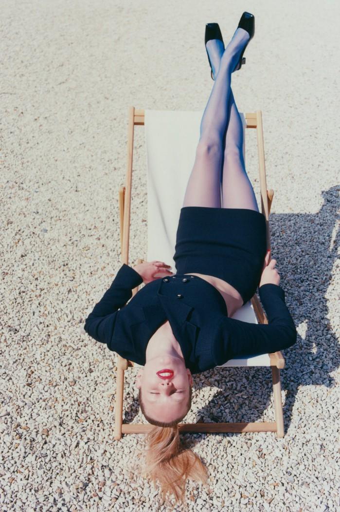 Anna Ewers pela lente de Sam Rock (Foto: Reprodução/Pinterest/Vogue Paris)