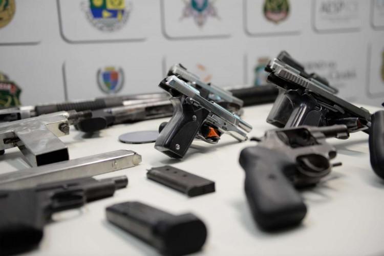 No mês de maio foram apreendidas 504 armas  (Foto: SSPDS/Reprodução)