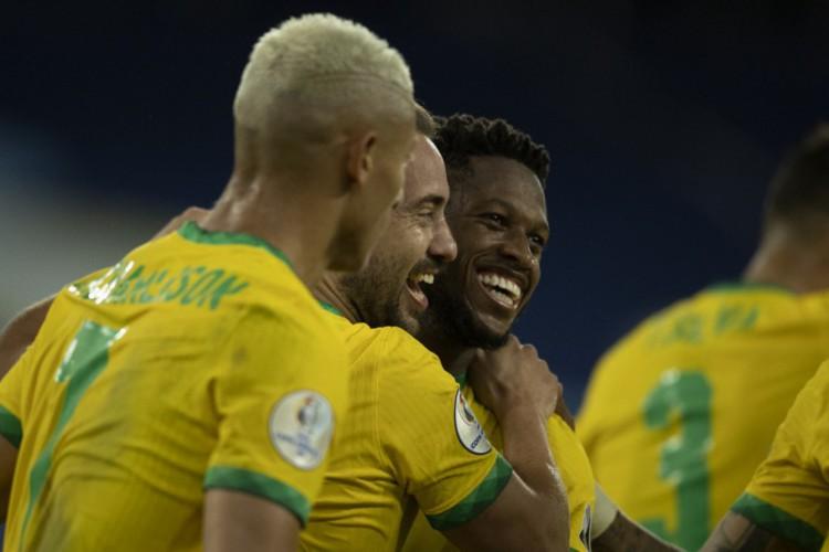 Entre os jogos de hoje, sábado, 10 de julho, o Brasil enfrenta Argentina, pela decisão da Copa América (Foto: Lucas Figueiredo/CBF)