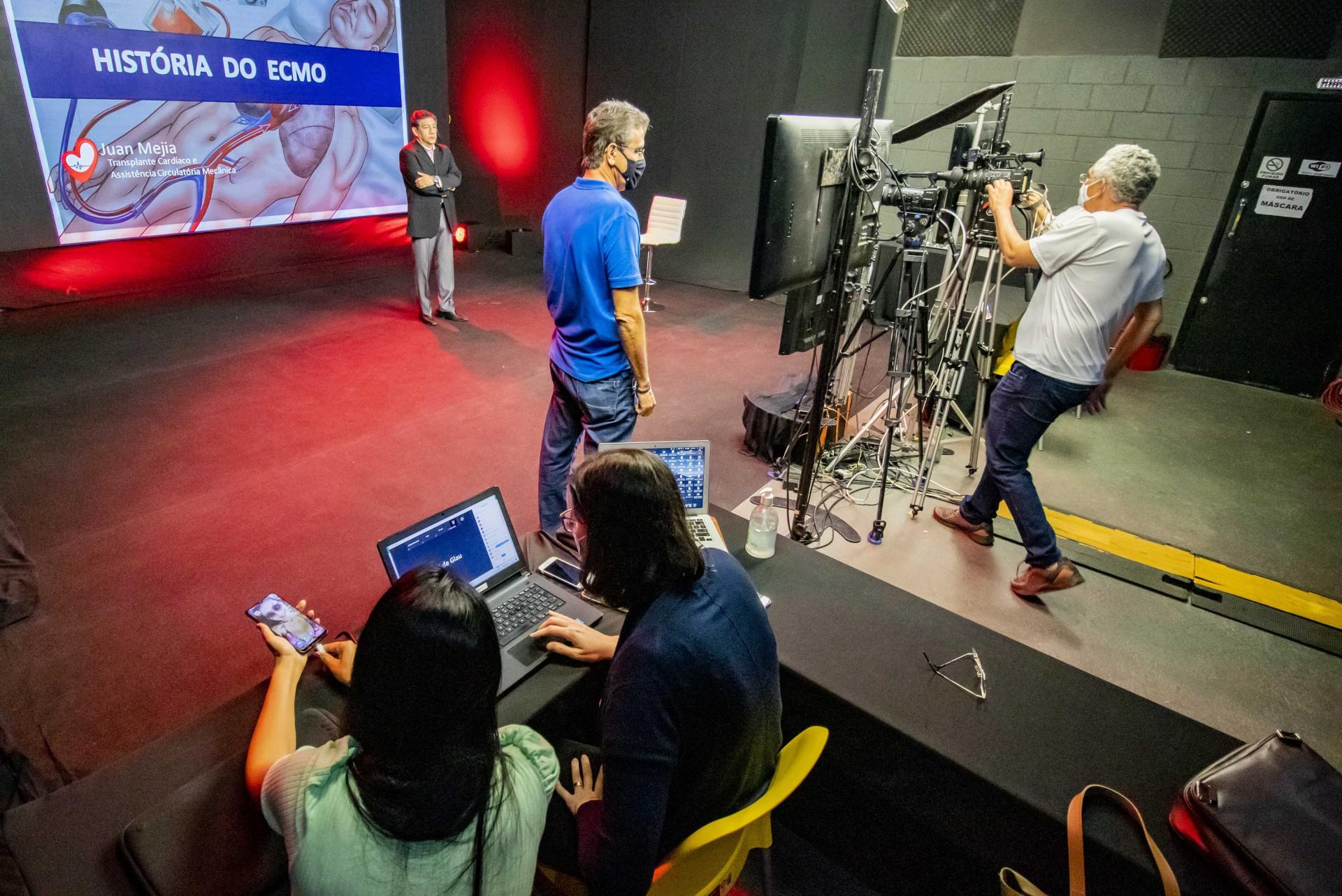 Evento da F3 Studios, produtora que realiza programação em modelo híbrido (Foto: FCO FONTENELE)
