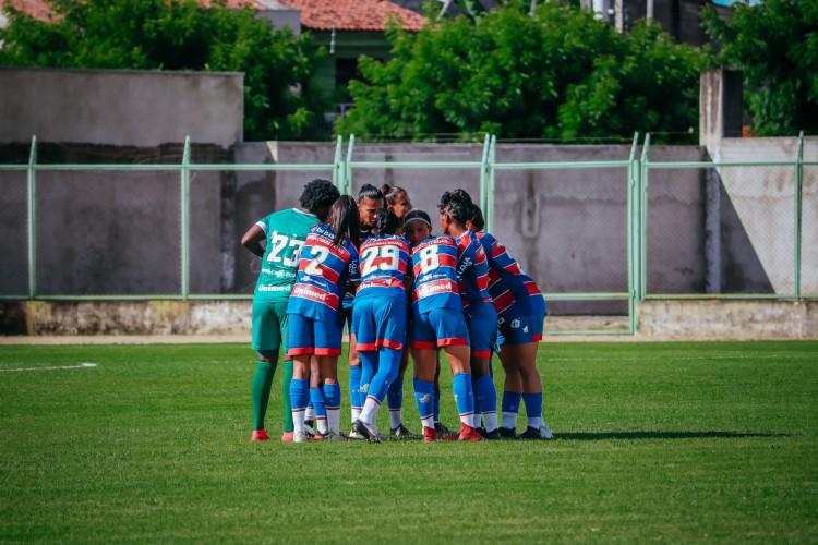 Leoas do Fortaleza disputam primeiro jogo das oitavas de final do Brasileirão Feminino A2 neste domingo, 27.  (Foto: Felipe Cruz/ FortalezaEC)