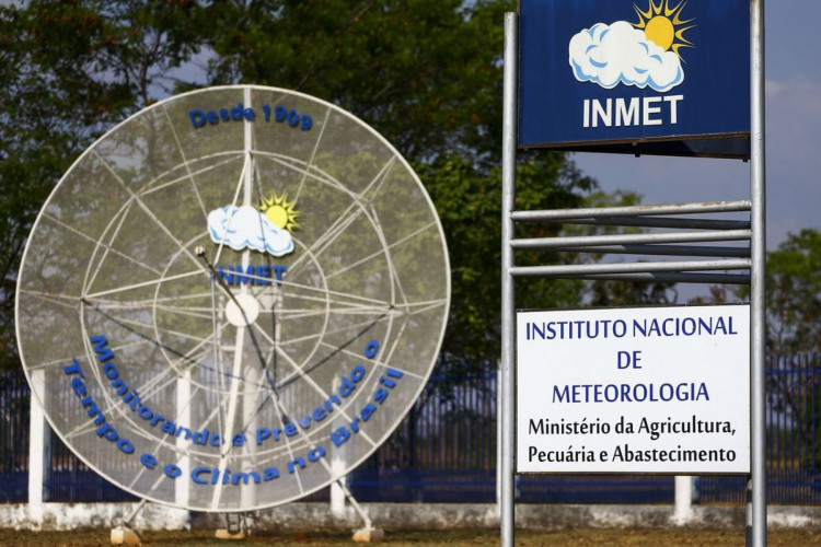 Fachada do instituto nacional de meteorologia (INMET), em Brasília. (Foto: Marcelo Camargo/Agência Brasil)