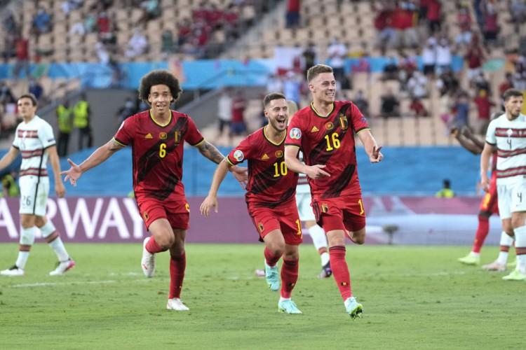 Eurocopa: com gol de Thorgan Hazard, Bélgica derrota Portugal (Foto: )