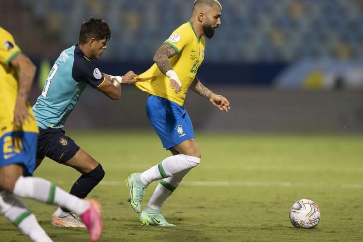 Copa América: com time alternativo, Brasil empata com Equador (Foto: Lucas Figueiredo/CBF)
