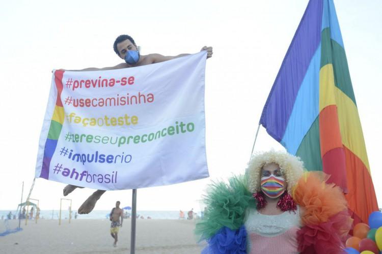 Ato no Rio chama atenção para proteção de pessoas LGBTQIA+ na pandemia (Foto: )