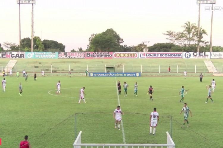 Guarany de Sobral sofreu a primeira derrota nesta edição da Série D, mas não perdeu a liderança da chave. (Foto: Reprodução / Eleven Sports)