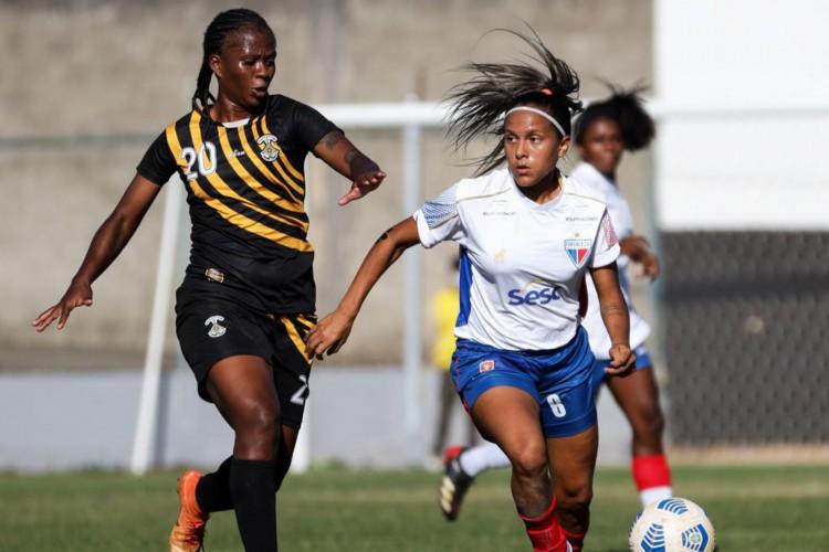 Fortaleza e Cresspom-DF fizeram jogo disputado no Distrito Federal, mas ficaram no 0 a 0.  (Foto: Júlio César/Fortaleza EC)
